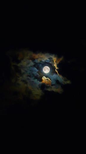 Landscape moon shiny black wallpapersc SmartPhone