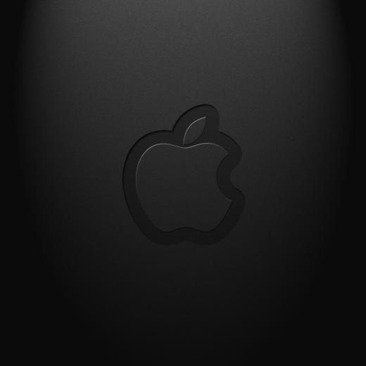 Download Black Apple logo Wallpaper 1024x1024 background and