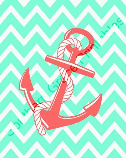 Chevron Anchor Wallpaper Anchor wchevron background