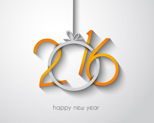 2016 new year creative background design vector 20   Vector Background