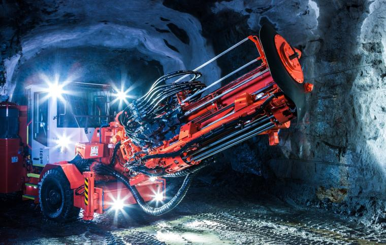 Wallpaper machinery mining excavation Sandvik long hole drill