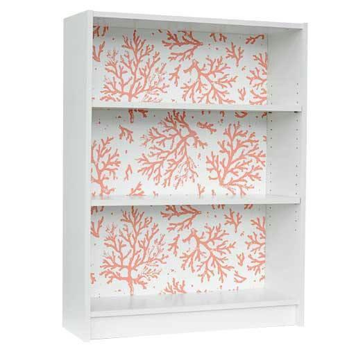Wallpaper back of bookcase DIY Furniture Pinterest