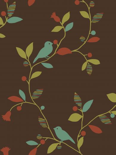 Chic Bird Trail design from Sandpiper Studios Eco Chic wallpaper