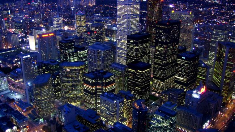 view from cn tower in toronto at nightjpg