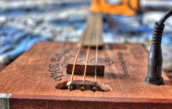Wallpaper cigar box guitar bokeh music wallpapers music   download