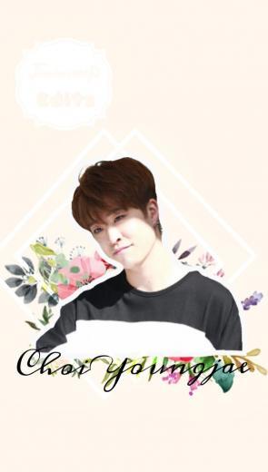 wallpaper youngjae Got7 flowers choiyoungjae cute paste