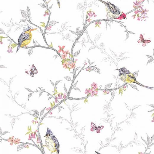 Decor Supplies White   98080   Phoebe   Birds   Trees   Blossom