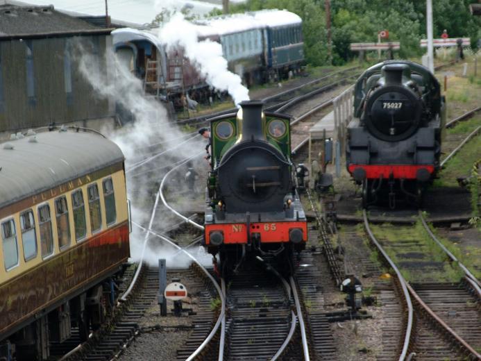 railroad tracks steam engine locomotives HD Wallpaper of Trains