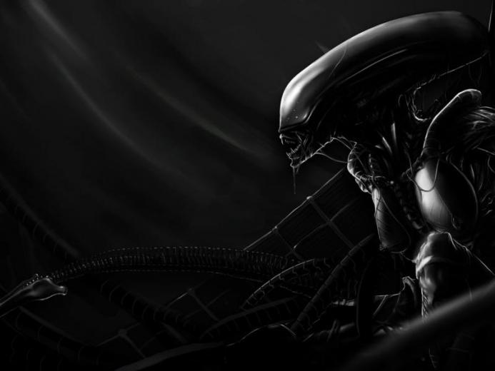 Dark Alien Artwork Wallpaper Cool Wallpapers