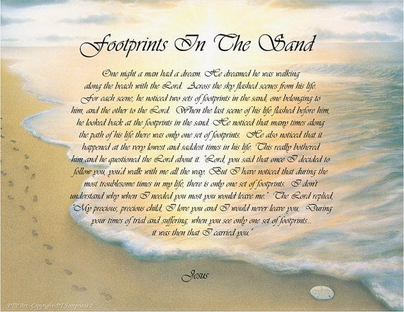 Footprints In The Sand Prayer Facebook Images Pictures   Becuo