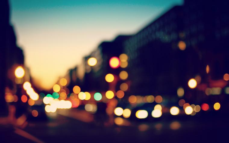 bokeh city lights photo fanciful evening hd wallpaper