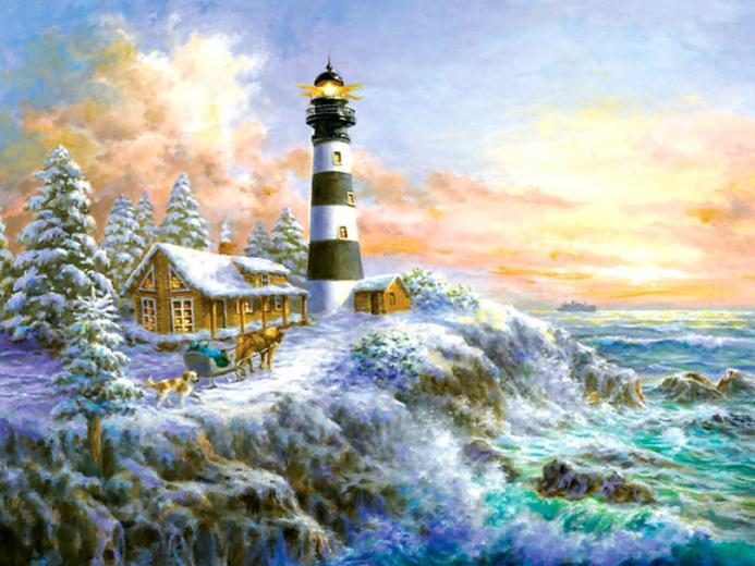 Winter Majesty   Lighthouse wallpaper   ForWallpapercom