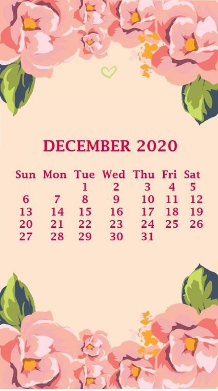 iPhone December 2020 Calendar Wallpaper Calendar wallpaper