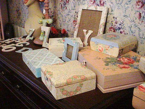 Vintage Wallpaper Cigar Box Nursery Recycled by SimplyCottageChic 24