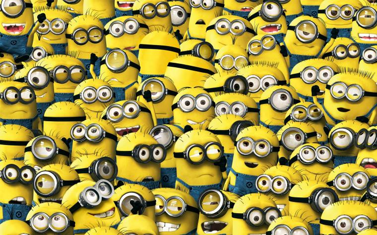 Wallpaper despicable me minions despicablem me 2 yellow animation