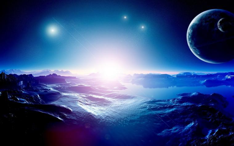 Scientific space planet galaxy stars mac ox ultrahd 4k wallpaper