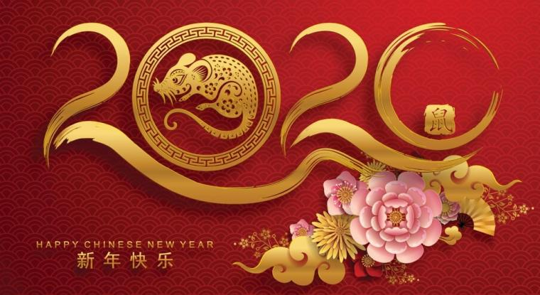 Happy chinese new year 2020 Zodiac sign year of the rat This