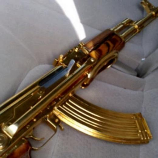 Real Gold Ak 47 Has a gold coated ak 47