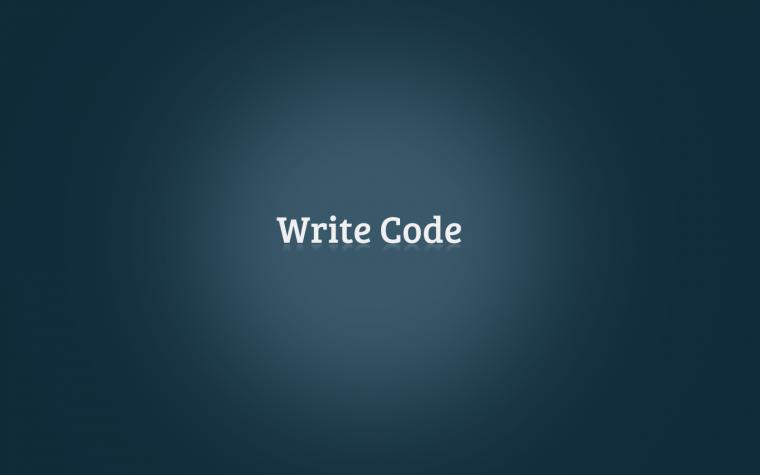 simple write code wallpaper