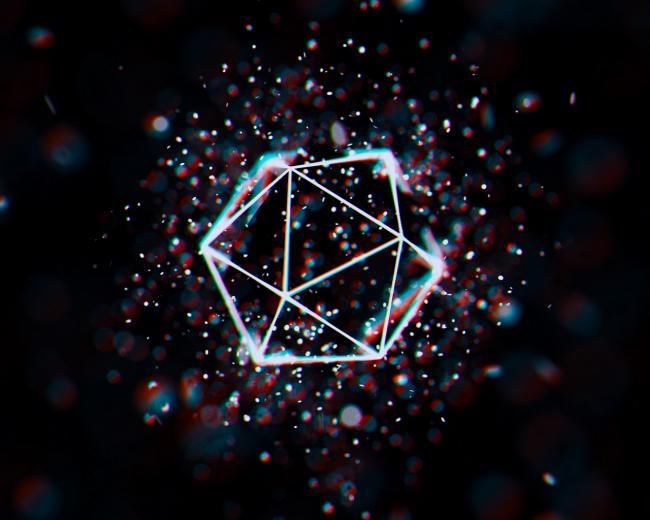 Download wallpaper 1280x1024 polygon mesh glare geometric