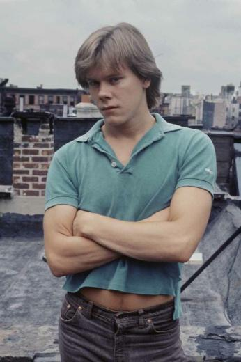 Young Kevin Baconarms crossed Dude he was fine A fine actor