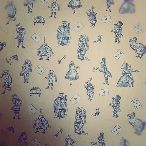 faisonslamourAlice in Wonderland wallpaper in the back of Twigs