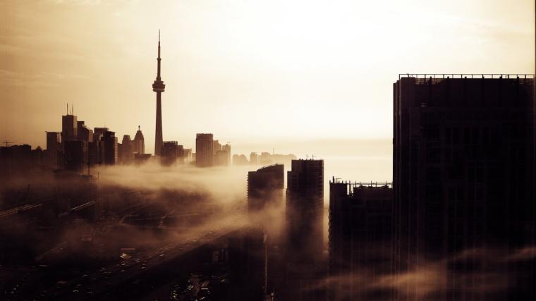 Toronto Evening Skyline Wallpaper WallpaperzCO