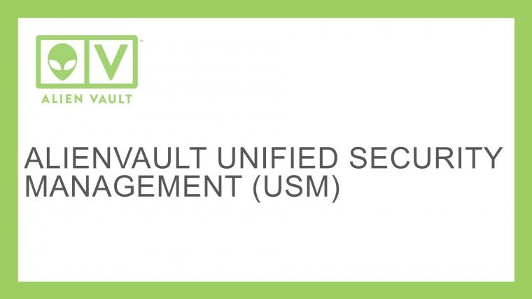 AlienVault Unified Security Management USM CyberSecurity