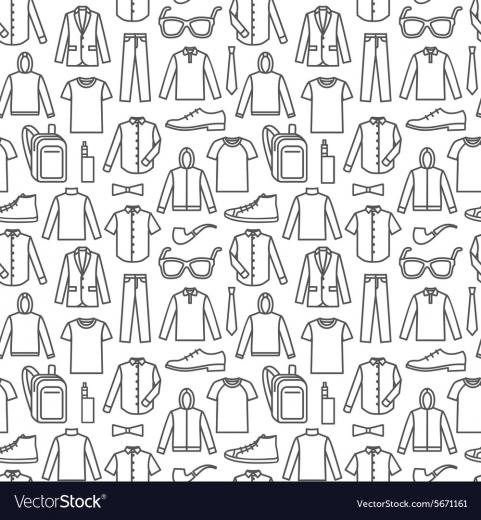 Endless clothes background Royalty Vector Image