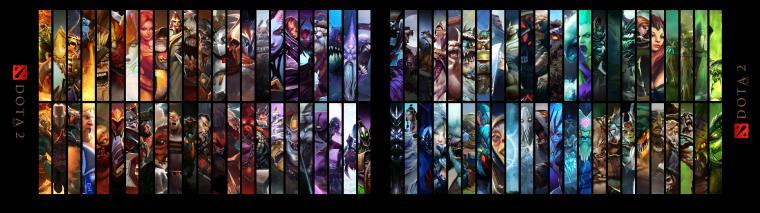 Dota 2 Heroes Dual Monitors Wallpaper Dota 2 HD Wallpapers