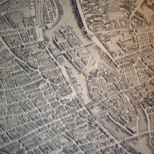 Vintage Paris map wallpaper   love Decorating tips Pinterest
