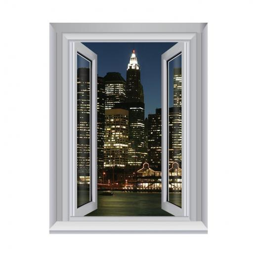 Jersey City Lights Removable Large Wallpaper Mural Lowes Canada