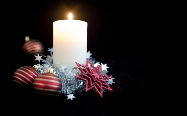 wallpaper candle christmas decorated beautiful computer