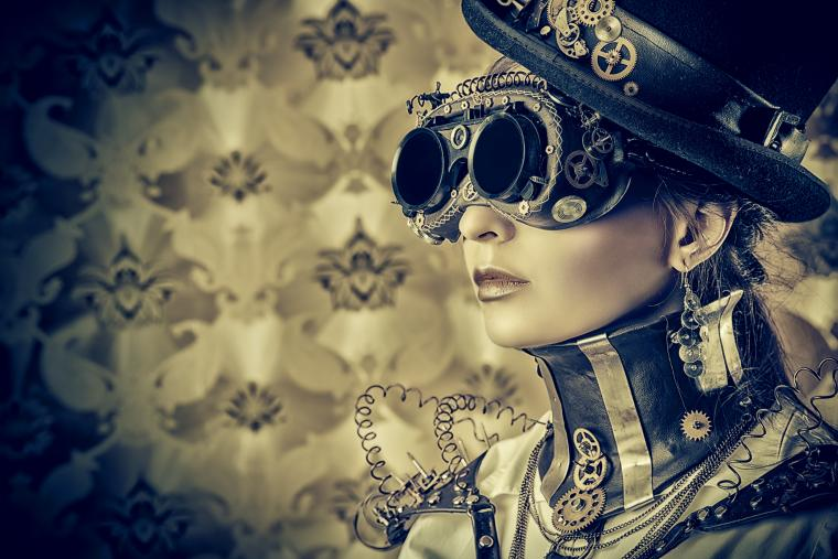Wallpaper girl steampunk wire hat sunglasses style wallpapers