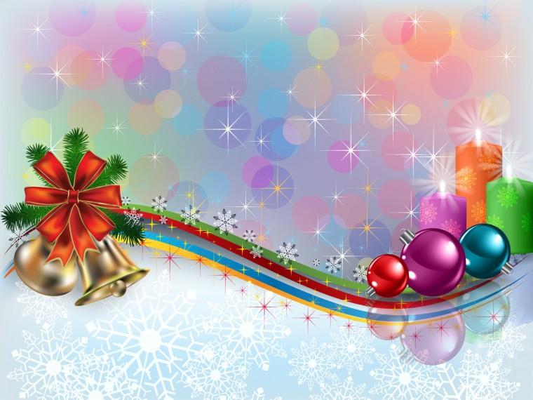 Beautiful Shiny Christmas Ornaments computer desktop wallpaper