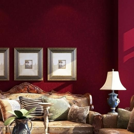 woven wallpaper american sofa background wall solid color wallpaper