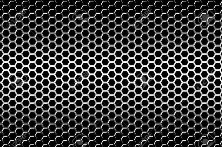 Background Material Wallpaper Perforated Metal Hexagonal