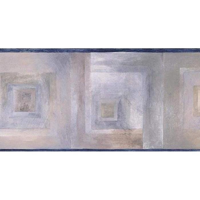 Dark Blue Abstract Wallpaper Border