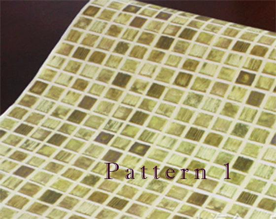 to Removable Mosaic tiles pattern self adhesive vinyl Wallpaper