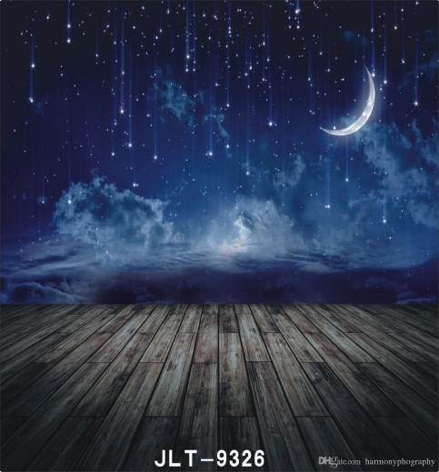 2019 Night Sky Shooting Star Moon Wooden Floor Photography