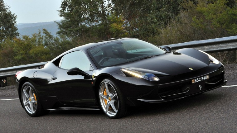 Black Ferrari 458 Italia Wallpaper   iBackgroundWallpaper