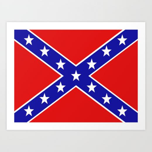 Confederate flag Art Print by PICSL8 Society6