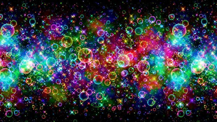 Colorful Bubbles Wallpaper For Desktop