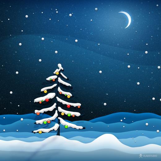 iPad Wallpapers Download Christmas Scenery iPad mini Wallpapers