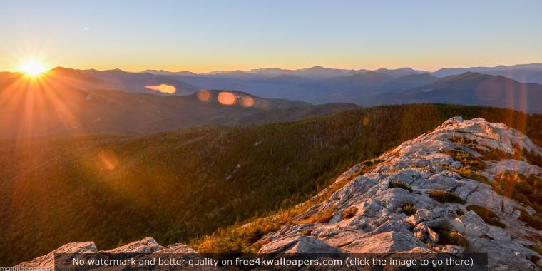 Sun Setting on Mount Chocorua in New Hampshire wallpaper Here