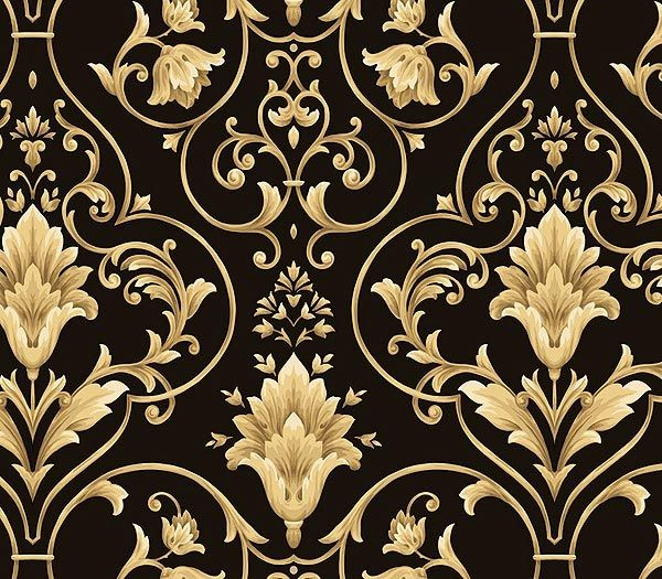 Gold Black and Gold Damask Black And Gold Damask Wallpaper Damasks