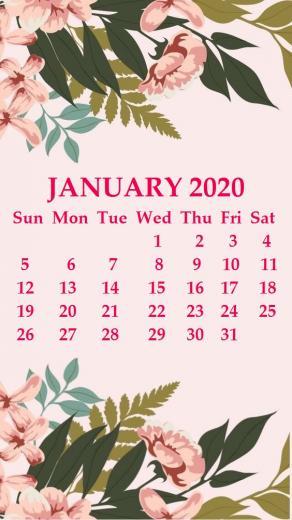 iPhone 2020 Calendar Wallpaper