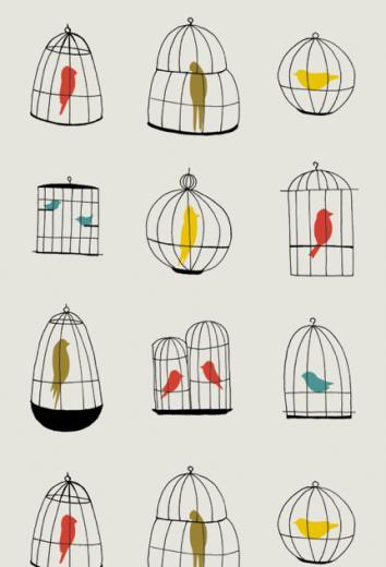 Bird Wallpaper Designs Bird cages wallpaper