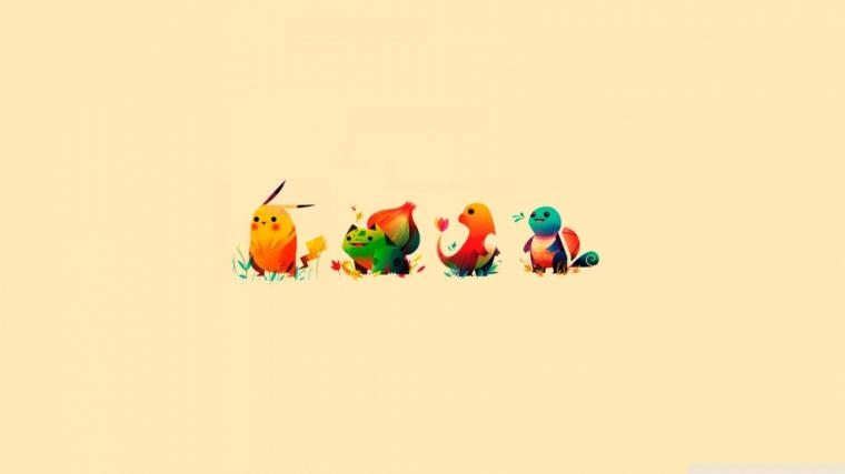 1366x768 Pokemon Characters desktop PC and Mac wallpaper