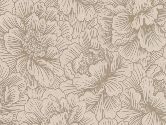 Flourish Cream Gold Floral Wallpaper   FREE Delivery
